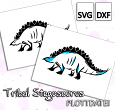 Tribal Stegosaurus - Plottdatei