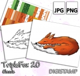 TripleFox 2.0 - Classic - DigiStamp Set