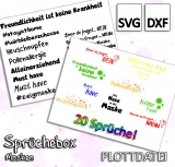Freebie Sprüchebox Masken - Plottdatei