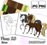 Fiona 2.0 - Horse - DigiStamp Set