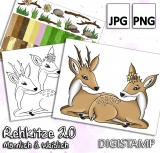 Rehkitze 2.0 - DigiStamp Set
