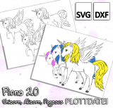 Fiona 2.0 - Unicorn, Alicorn, Pegasus - Plottdatei