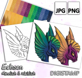 Echsen - DigiStamp Set