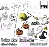 DekoSet Halloween - DigiStamp Einzeln