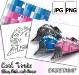 Cool Train - DigiStamp Set