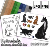 Katzenlady - DigiStamp Set