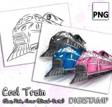 Cool Train - DigiStamp Einzeln