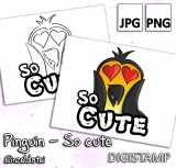 Pinguin So cute - DigiStamp Einzeln