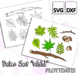 Deko Set Wald - Plottdatei