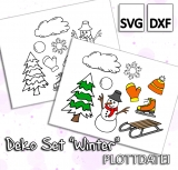 Deko Set Winter - Plottdatei